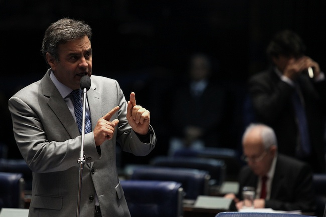 Senador Aecio Neves plenario Senado Federal 27 08 2013 Foto George Gianni 5