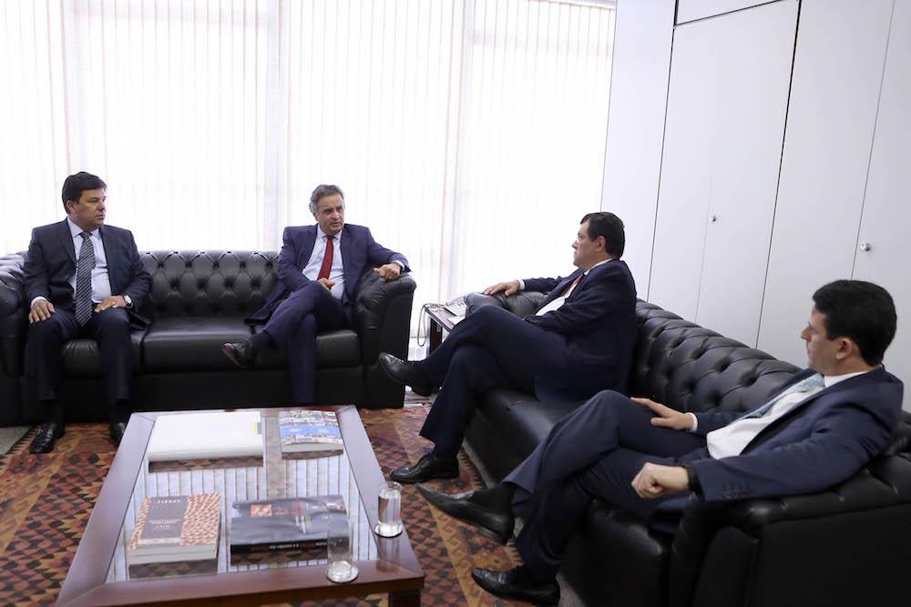Reunião Aécio com ministros