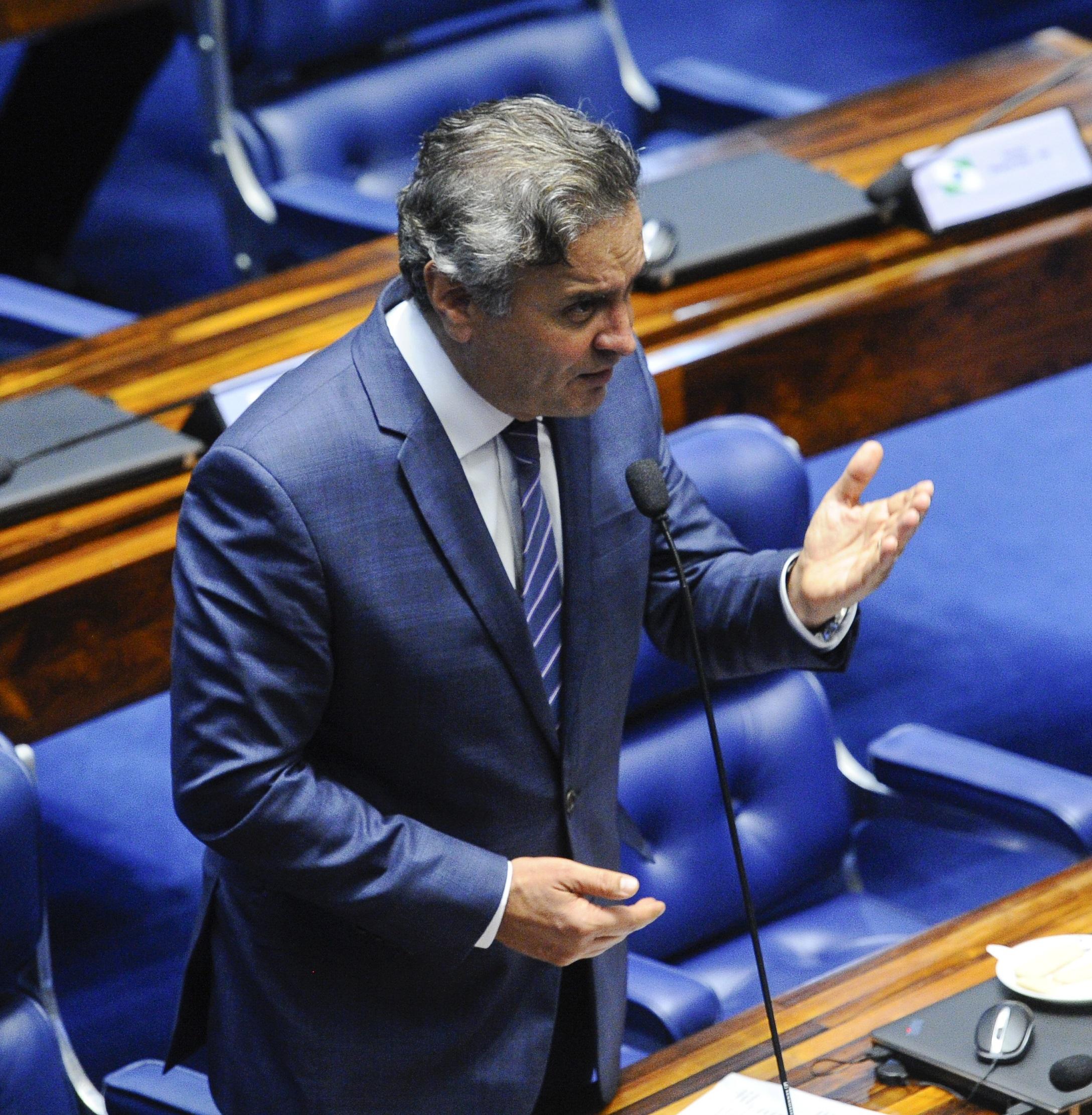 Plenário do Senado Federal durante sessão deliberativa ordinária. Ordem do dia.   Em pronunciamento, senador Aécio Neves (PSDB-MG).  Foto: Marcos Oliveira/Agência Senado
